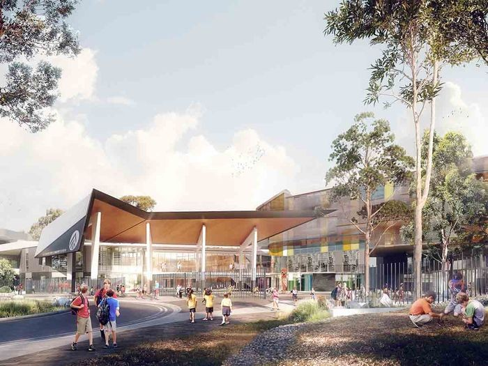 Artist impression of the new Alexandria Park Community School